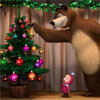 Masha and Bear Christmas Game Online